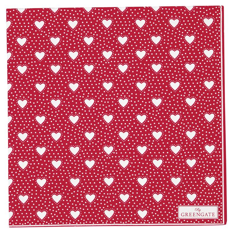 a14591x.jpg - Servetter Penny, Red - Elsashem Butiken med det lilla extra...
