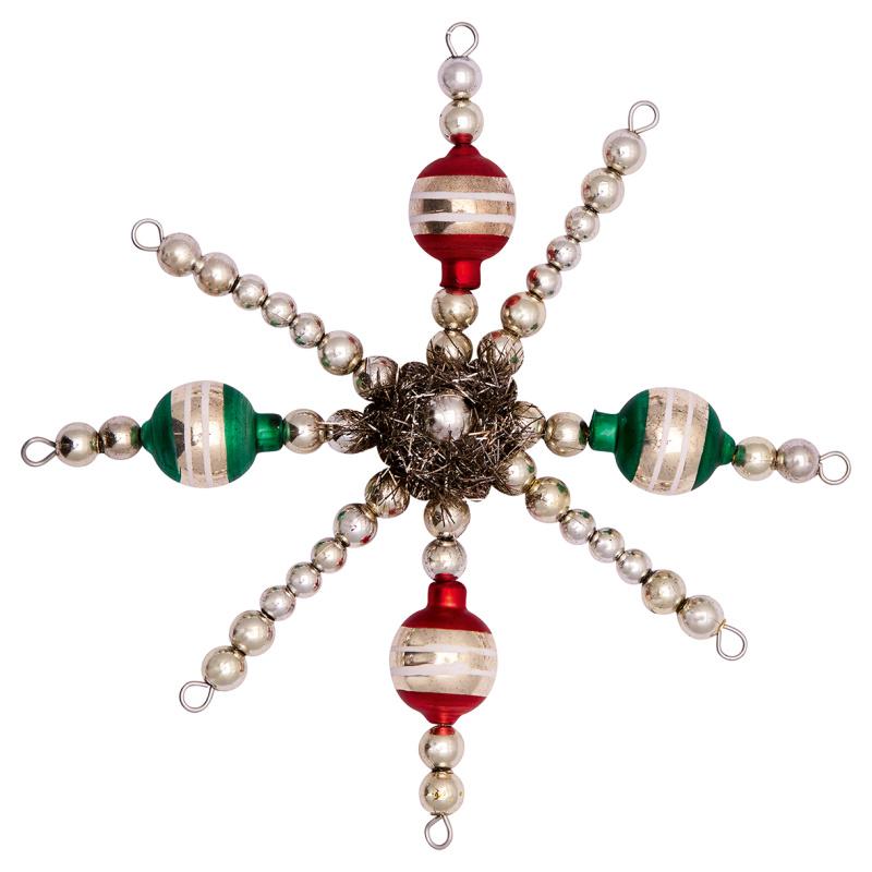 a14629x.jpg - Glass pearl ornament Snowflake, Silver small - Elsashem Butiken med det lilla extra...