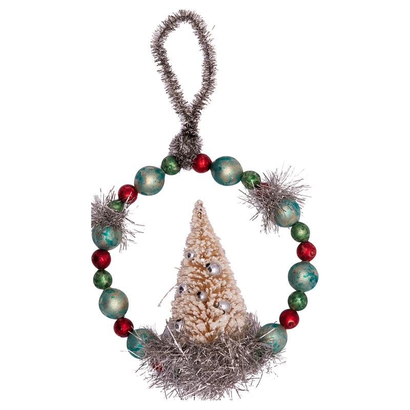 a14630x.jpg - Glass pearl ornament w/tree, White small - Elsashem Butiken med det lilla extra...