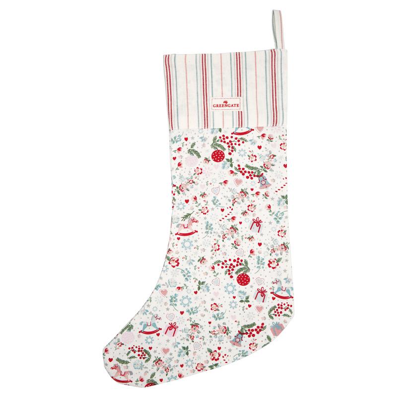 a14636x.jpg - Julstrumpa Carol, White - Elsashem Butiken med det lilla extra...