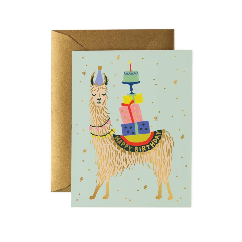a14722x.jpg - Kort med kuvert, Llama - Elsashem Butiken med det lilla extra...
