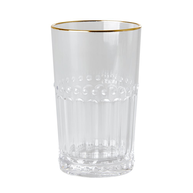 a14971x.jpg - Acrylic Tumbler in Clear with Gold Edge, Small - Elsashem Butiken med det lilla extra...