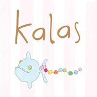 Senaste nytt Kalaskort, Blå fisk på rosa rand - påse med 6 st