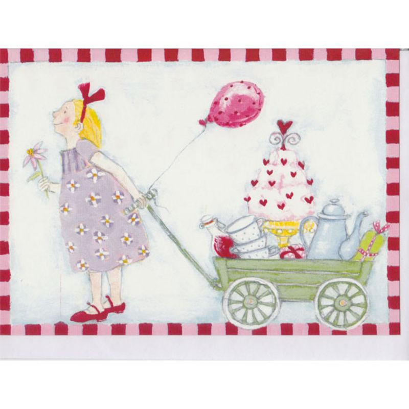 a4341x.jpg - Kort, Flicka med vagn - Elsashem Butiken med det lilla extra...