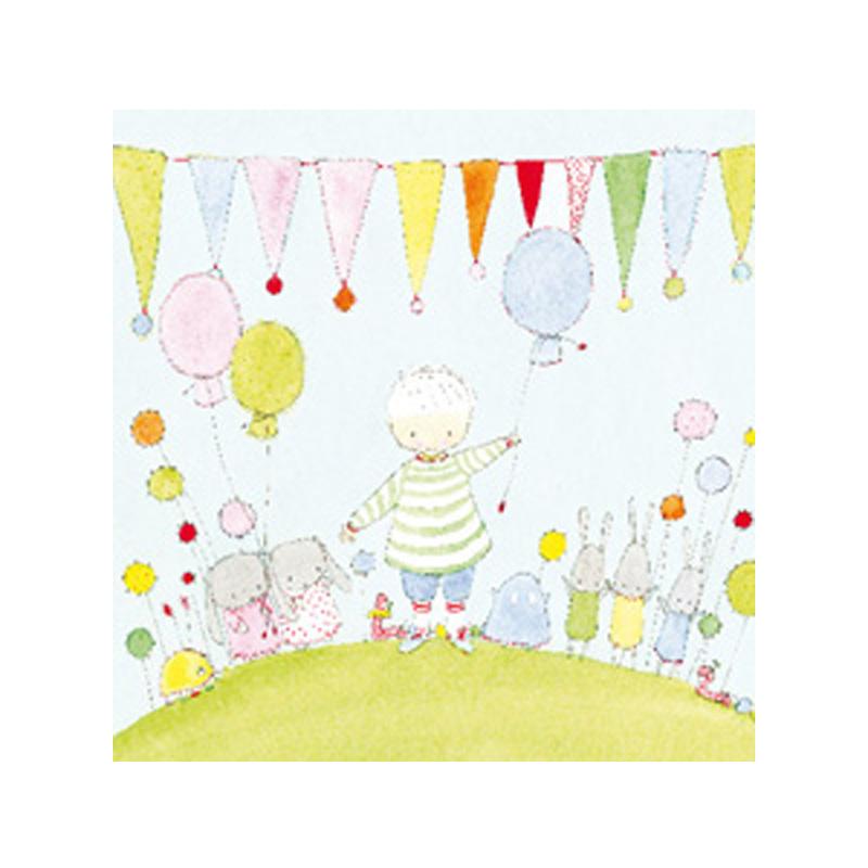 a5578x.jpg - Kort Axel, Pojke, ballong och vimplar - Elsashem Butiken med det lilla extra...