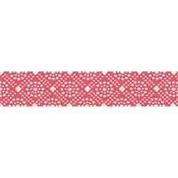 Senaste nytt Band, red with white dots