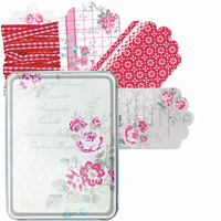 Senaste nytt Gift tags Camille, 24 pcs in a tin