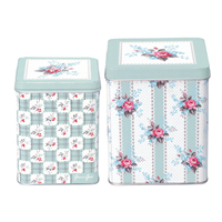 Set med 2 burkar Holly, Dark mint