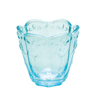 Senaste nytt Glass Votive w/hearts, Turquoise