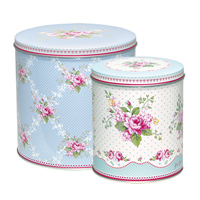 Set med 2 burkar Amy, Pale blue