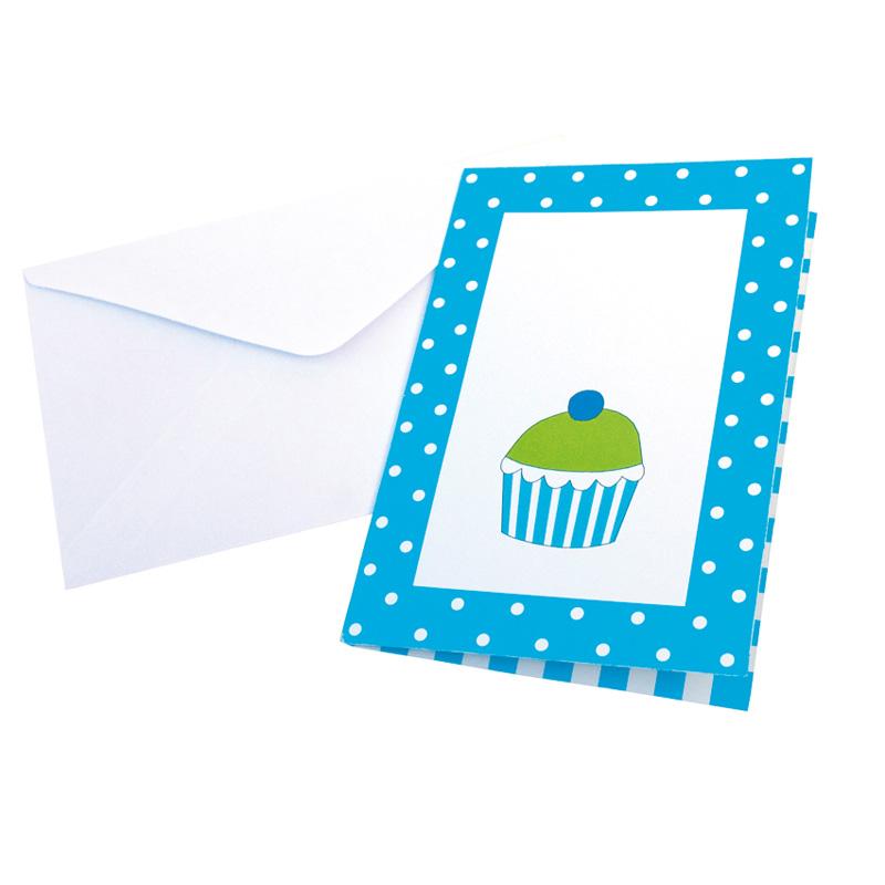 a7407x.jpg - Inbjudningskort Party, Blå - Elsashem Butiken med det lilla extra...