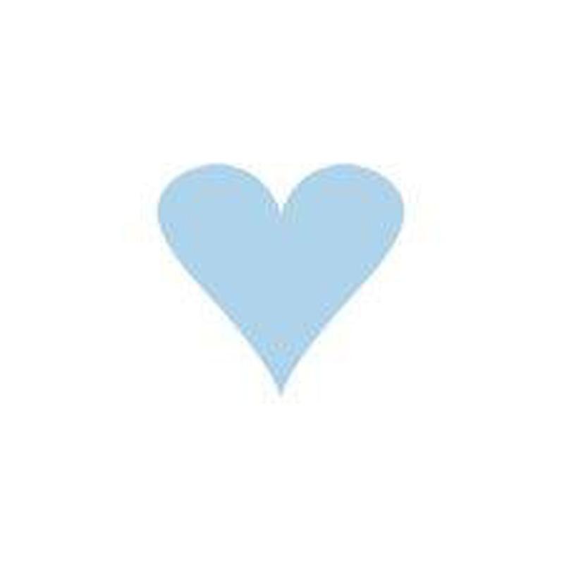 a8880x.jpg - Doris kort, Hjärta Ljusblått - Elsashem Butiken med det lilla extra...