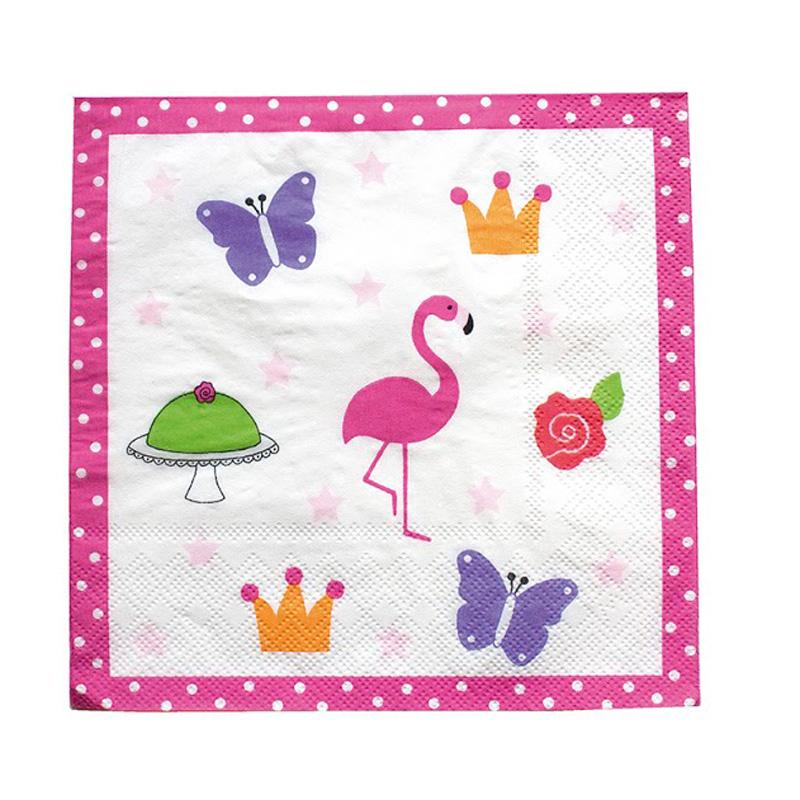 a9184x.jpg - Servetter Kalas, Flamingo - Elsashem Butiken med det lilla extra...