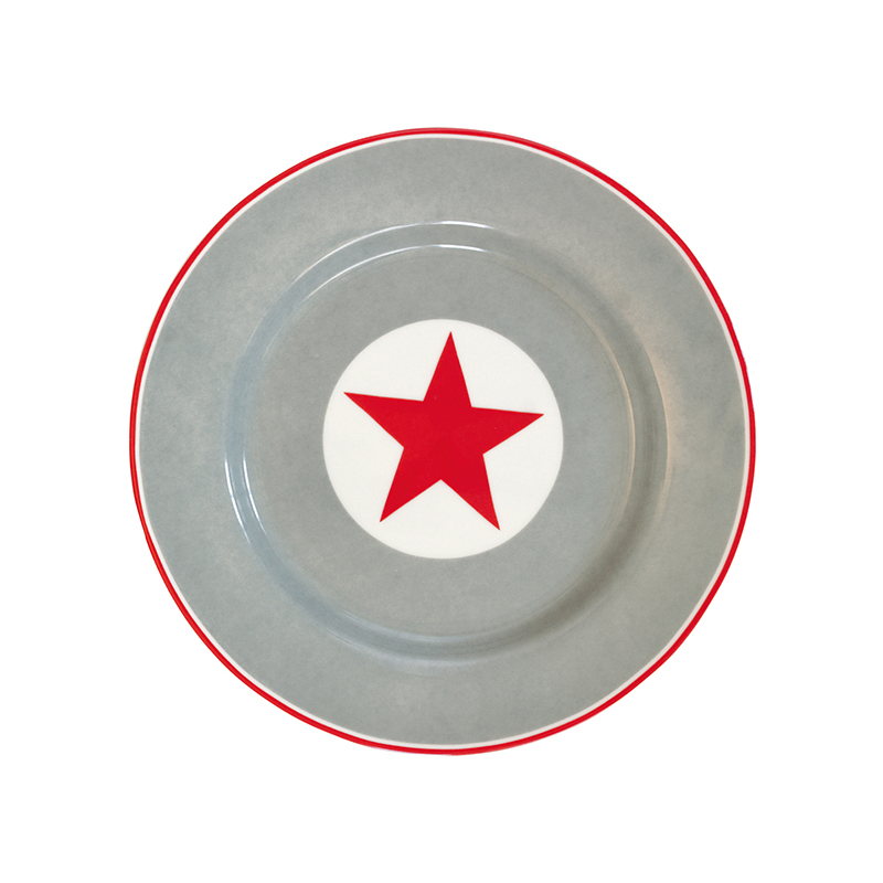 a9426x.jpg - Assiette Big star, Red - Elsashem Butiken med det lilla extra...