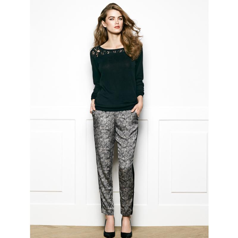 a9520-3x.jpg - Silk trousers, Granite print - Elsashem Butiken med det lilla extra...